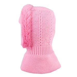 tutu by galeja mädchen schlupfmütze rosa 48 52 kindermütze winter mütze baumwollfutter mit stirnschutz