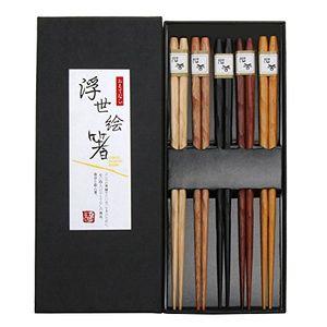 Angebote für -gerhannery japanische essstäbchen holz 5 pairs wiederverwendbare natürliche essstäbchen waschbar für geschirrspüler 23cm bambus essstäbchen chinesische geschirr set mit luxuriöse schwarz handgemachte