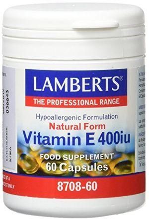 Reseña Lamberts Vitamina E, Natural 400UI - 60 Cápsulas Mejor compra