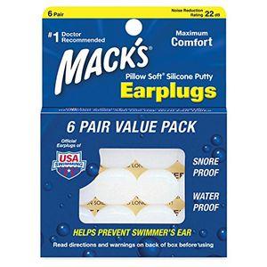 Comprar Macks Pillow Soft Moldable Silicone Putty Earplugs 6 Pairs x 3 (18 Pairs) ofertas de hoy