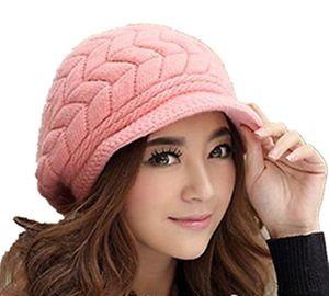 deals for - demarkt damen fashion warm wintermütze hüte wollmütze schirmmütze beanie strickmütze damenmütze rosa