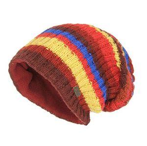 Angebote für -mcron wollmütze nathan rot gestreift für herren mütze beanie strickmütze slouch gestrickte wintermütze warm gefüttert