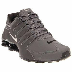 deals for - nike mens shox nz dark grey leather trainers 425 eu