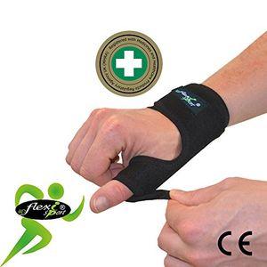 Calientes 4Dflexisport Apoyo para el pulgar (Single) Metal Spica férula NON-SWEAT máxima comodidad en hipoalergénico non-rash. Reversible izquierda o derecha one-easy-size Fit. Unisex. Hot oferta