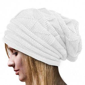 Top strickmützen damen hüte winter mütze warm caps von xinan ❤️ weiß