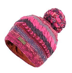 Angebote für -wollmütze frida pink für damen warm gefüttert mit weichem fleece strickmütze mit bommel wintermütze