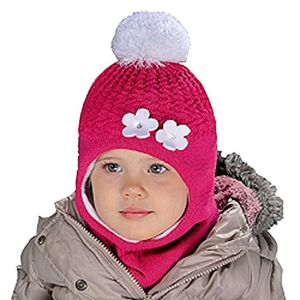 Angebote für -mädchen schlupfmütze wintermütze ballonmütze beanie in 6 farben für mädchen 3 6 jahre alt 50 54 cm kopfumfang sehr dehnbar grau pink b