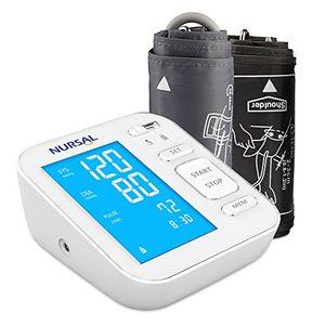 NURSAL Monitor digitar de presión arterial actualizado para el brazo superior con cable de alimentación USB Gran pantalla digital retroiluminada para 2 usuarios (2 * 120 de almacenamiento) guía del comprador