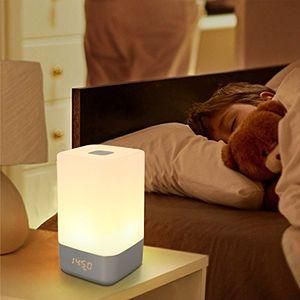 Reseña SAILNOVO-Wake UP Light ,Control Táctil de Lampara de Mesa, Luz de Noche con Múltiples el Colores 3 Modos De Luz y 256 RGB Colores,5 Sonidos Naturales te permiten despertar comodamente. Mejor oferta