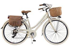 via veneto by canellini fahrrad rad citybike ctb frau vintage retro via veneto alluminium beige 46