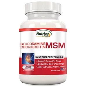 Comprar Nutriza Select - Suplemento de apoyo para las articulaciones con MSM, condroitina y glucosamina Nutriza, 200 cápsulas, hecho en EE.UU., instalaciones con certificado NCF, crea cartílago, ayuda a la salud de las articulaciones ofertas de hoy