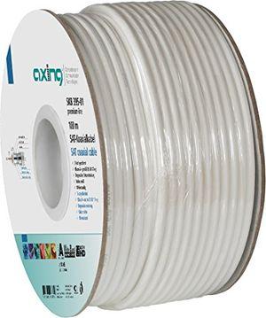 axing skb 395 01 koaxialkabel 3 fach geschirmt für sat bk hausinstallation 100 m ring weiß