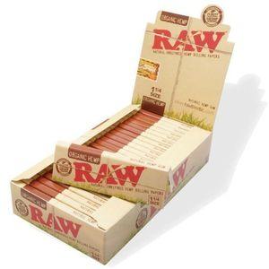 Papel de Fumar Orgánico de Cáñamo Marca Raw - Tamaño 1 1/4 - Caja Completa de 24 Librillos comparación