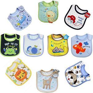 ofertas para - tomkity 10x impermeables baberos del bebé baberos bandana para niño