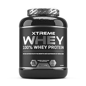 Cheap Xcore Xtreme 100% Whey Protein Powder 2kg - Aumenta el Crecimiento y el mantenimiento de la masa muscular- Suplemento Vegetariano con BCAA, Glutamina y Vitaminas - Sabor a Chocolate - 60 Dosis ofertas Especiales