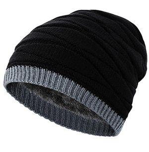 novawo verdickte wollmütze mit teddyfleece innenfutter unisexe warme kopfkappe herbst winter mütze strickmütze