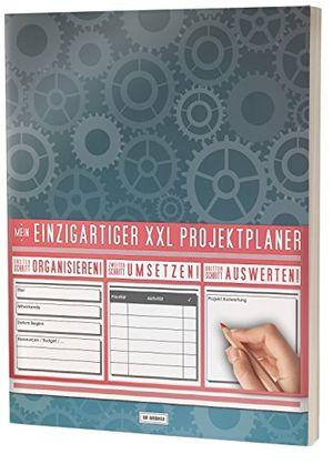 """mein projektplaner planen umsetzen auswerten 122 seiten register kontakte uvm pr201 zahnräder"""" din a4 softcover"""