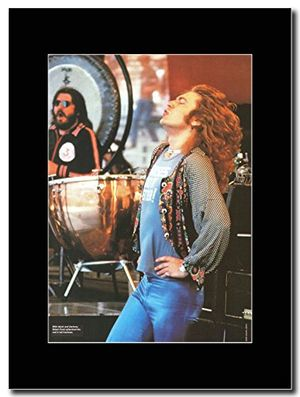Cheap led zeppelin robert plant frontman magazine promo on a black mount