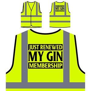 deals for - ich habe gerade meine gin mitgliedschaft erneuert personalisierte high visibility gelbe sicherheitsjacke weste v924v