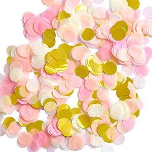 deals for - 1 zoll papier konfetti runde tissue konfetti party kreis papier tabelle konfetti 6000 stück 4 farben