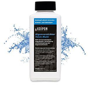 algenvernichter 05 l für kristallklares wasser im teich gegen fadenalgen schwebealgen schmieralgen algenentferner fadenalgen stopp algizid gegen algen fadenalgenfrei durch fadenalgenvernichter koiteich gartenteich