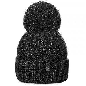 Angebote für -caspar unisex klassische winter mütze bommelmütze strickmütze mit großem bommel viele farben mu087 farbeschwarzgrößeone size