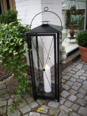 Angebote für -riesige stabile laterne höhe 100cm schwarz