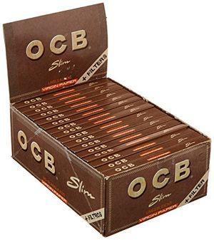 deals for - ocb 2300 ungebleicht slim virgin paper mit tips 32 heftchen 32 blatt langes papier ungebleicht plus tips