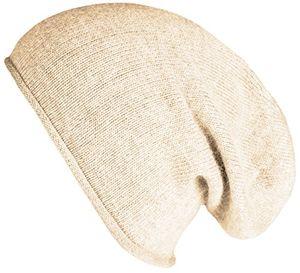 mevina damen mütze angora anteil beanie strickmütze feinstrick wintermütze creme m2218