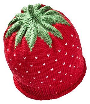 deals for - fruchtige erdbeer wintermütze für babys kleinkinder in rot kopfumfang50 52cm