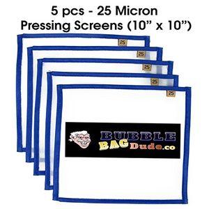 deals for - bubblebagdude bildschirm 25micron 5stück 10cm x 10cm kräuter mit eisbeutel mit pflanzlichen extractions schnelltrocknend