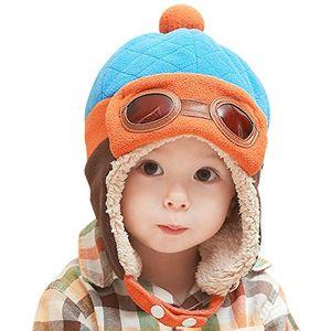 Review for chic chic baby jungen fliegermütze wintermütze hut beanie winter mit ohrenklappen russisch klappen pilot cap blau