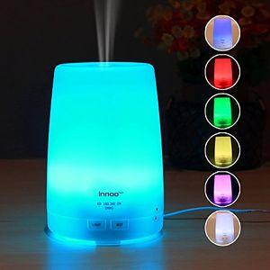 ofertas para - innoo tech humidificador 300ml difusor de aceites esenciales difusor de aroma 7 colores led 4 modos de temporizador vapor frío