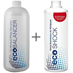 chlorfreie wasserpflege biologische whirlpool wasserpflege eco balancer shock zum setpreis