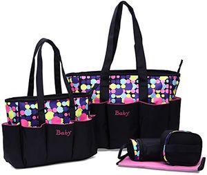 Comprar Juego de bolsas cambiador de pañales negro rosa antes de compra