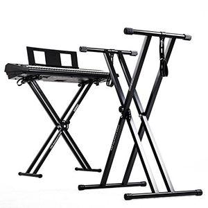 Angebote für -duronic ks2b schwarzer keyboardständer mit befestigungsgurt höhenverstellbar zusammenklappbar transportabel schnellverschluss keyboard ständer