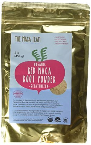ofertas para - maca roja gelatinizada en polvo bio 500 gr cosecha orgánica certificada de perú comercio justo sin ogm sin gluten y vegana 50 dosis