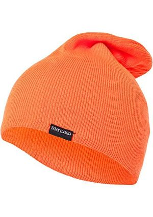 Buy urban classics unisex strickmütze neon long beanie orange orange 00180 one size herstellergröße one size