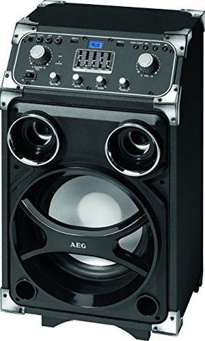 aeg ec 4829 mobiles entertainment center bluetooth 2xusb inkl mikrofon 5 band equalizer 100 watt rms
