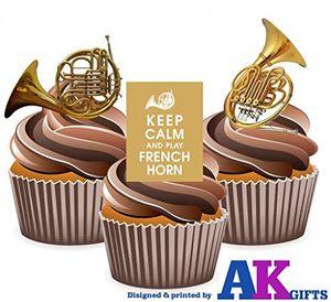 keep calm and waldhornessbar stand up cupcake topper pack von 12