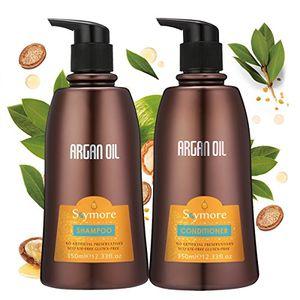 ofertas para - skymore champú acondicionador de tratamiento nutritivo y profundo aceite de argán terapia de reparación para pelo mejor grado para todo tipo de cabello 350ml
