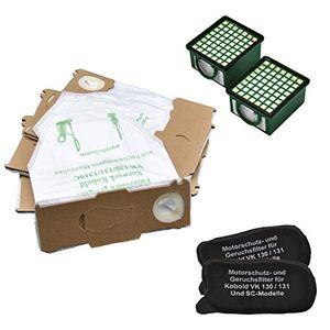deals for - vorteils set 18 microvliesbeutel 2 geruchsfilter 2 hygienefeinfilter geeignet für ihren vorwerk kobold 130131 und 131 sc