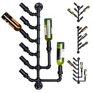 clp wand flaschenhalter im industrial design weinbar für 6 8 flaschen deko bar zur wandmontage in verschiedenen größen erhältlich manchester bxtxh 425 x 17 x 86 cm