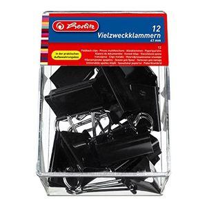 Angebote für -herlitz 10411197 vielzweckklammern 41mm schwarz 120 stück 10 boxen á 12 stück