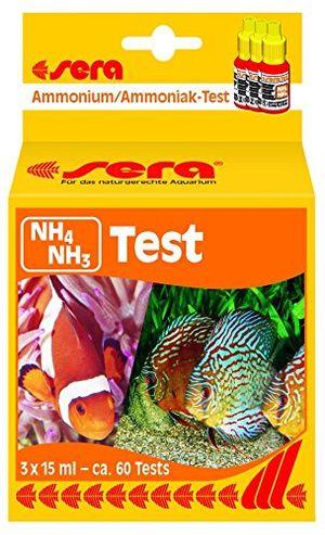 Buy sera 04910 nh4nh3 test 15 ml ammoniumammoniak test für ca 60 messungen misst zuverlässig und genau den nh3nh4 gehalt für süß meerwasser im aquarium oder teich