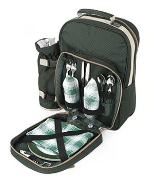 deals for - greenfield collection luxury two person picnic backpack forest green by greenfield collection i fulfilment