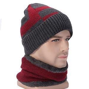 Cheap wincret warme wintermütze strickmütze und schal für herren damen praktisch beanie mütze kurzschal set mit flauschige fleecefutter