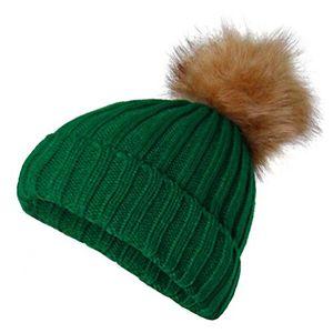 Angebote für -strickmütze neon fell bommel wintermütze ski mütze pompon damen umschlag winter grün