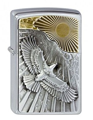 ofertas para - zippo eagle sun fly encendedor cromo única