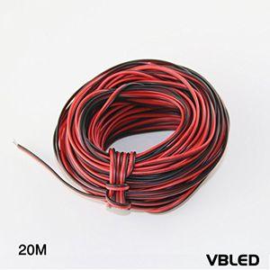 Cheap vbled 20meter 12 volt verlängerungskabel schwarzrot 12v kabel für led strip minispot strahler leuchten audio lautsprecher draht